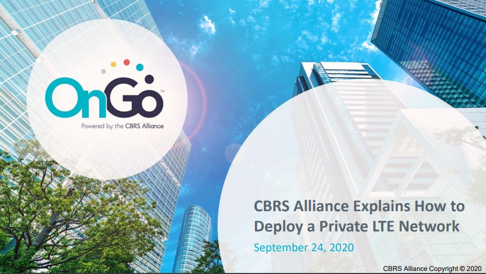 Deploy a Private LTE Network - CBRS Alliance